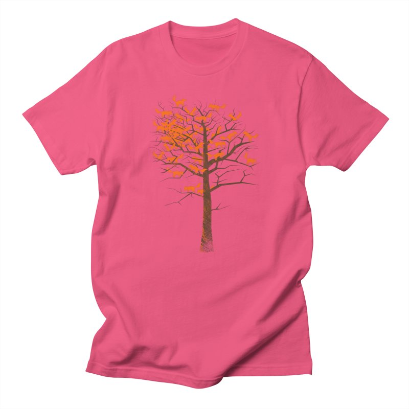 Blazing Fox Tree Men's Regular T-Shirt by 38 Sunsets