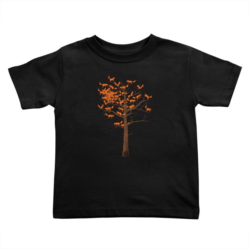 Blazing Fox Tree Kids Toddler T-Shirt by 38 Sunsets
