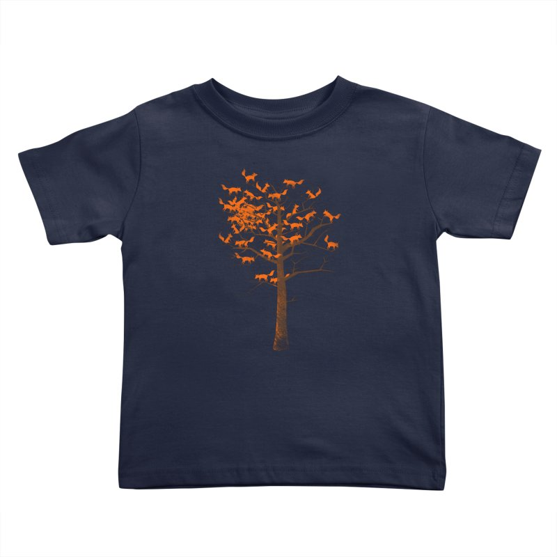 Blazing Fox Tree Kids Toddler T-Shirt by 38 Sunsets