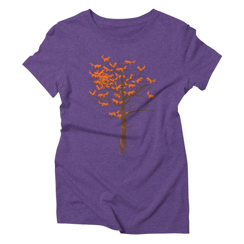 Blazing Fox Tree Women's Triblend T-Shirt by 38 Sunsets