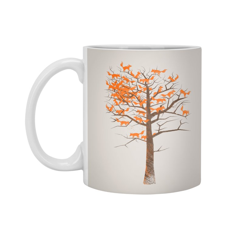 Blazing Fox Tree Accessories Standard Mug by 38 Sunsets