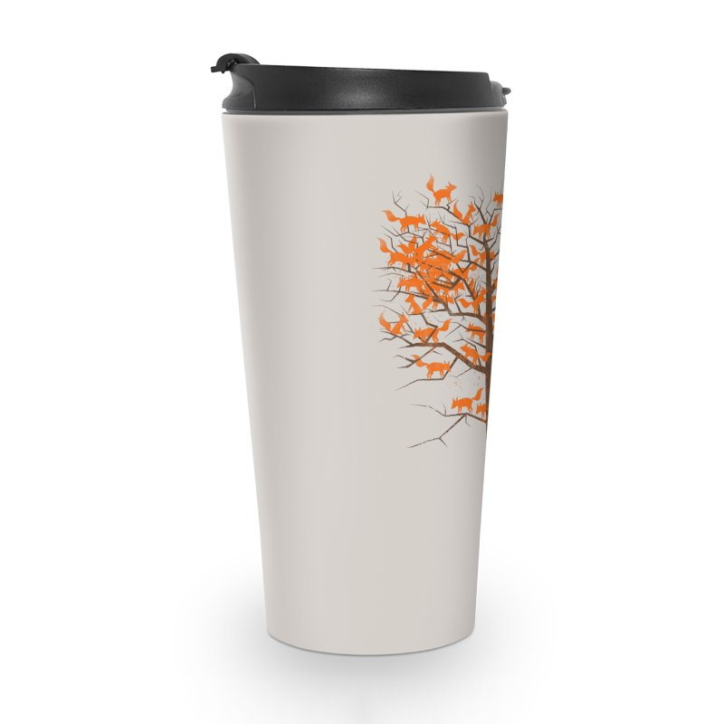 Blazing Fox Tree Accessories Travel Mug by 38 Sunsets