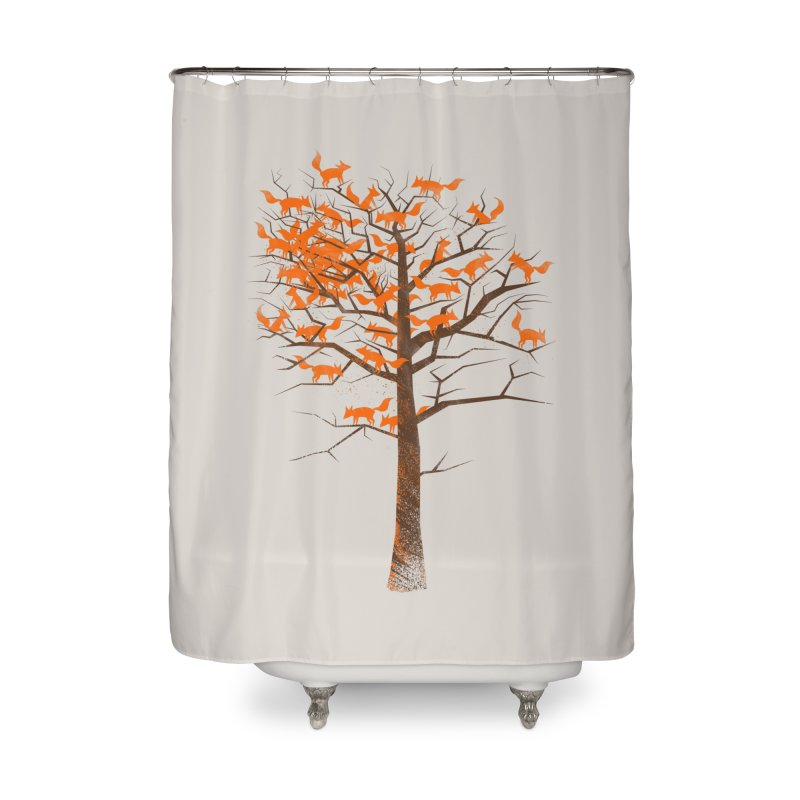 Blazing Fox Tree Home Shower Curtain by 38 Sunsets