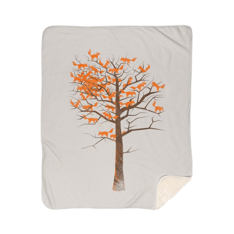 Blazing Fox Tree Home Sherpa Blanket Blanket by 38 Sunsets