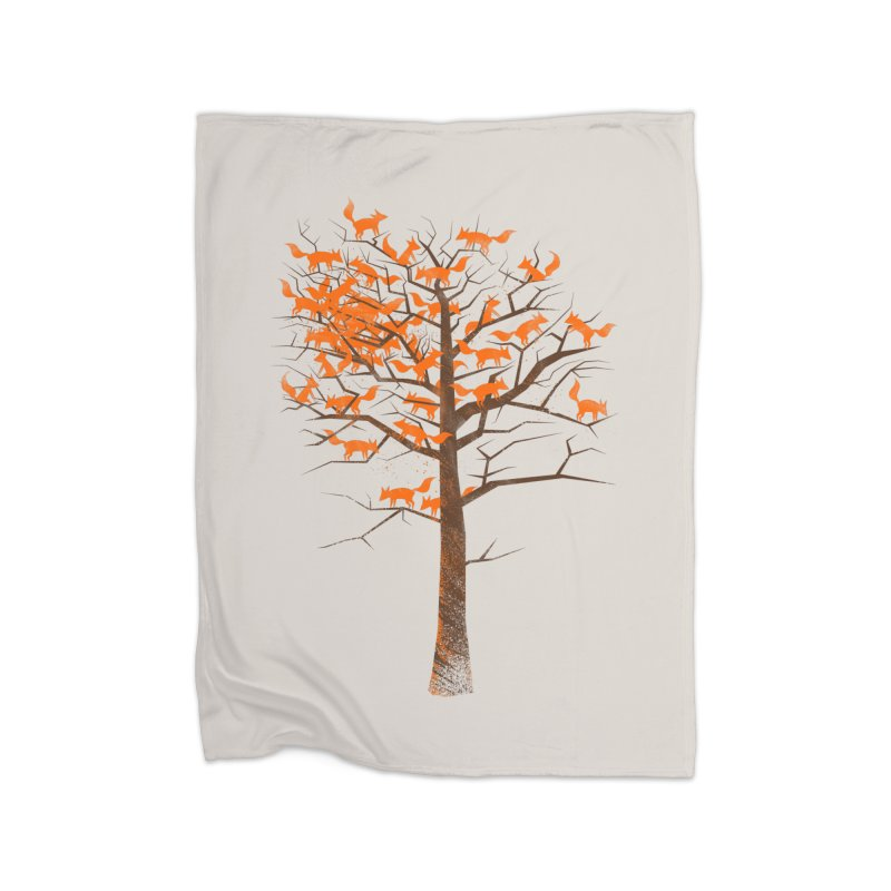 Blazing Fox Tree Home Fleece Blanket by 38 Sunsets