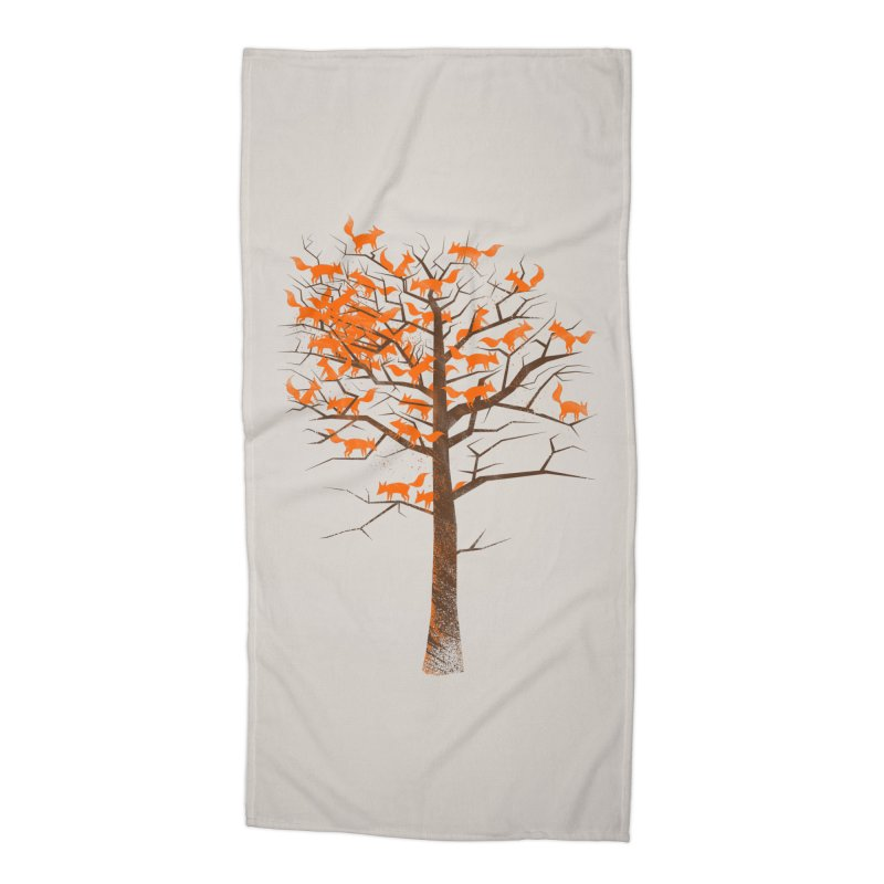 Blazing Fox Tree Accessories Beach Towel by 38 Sunsets
