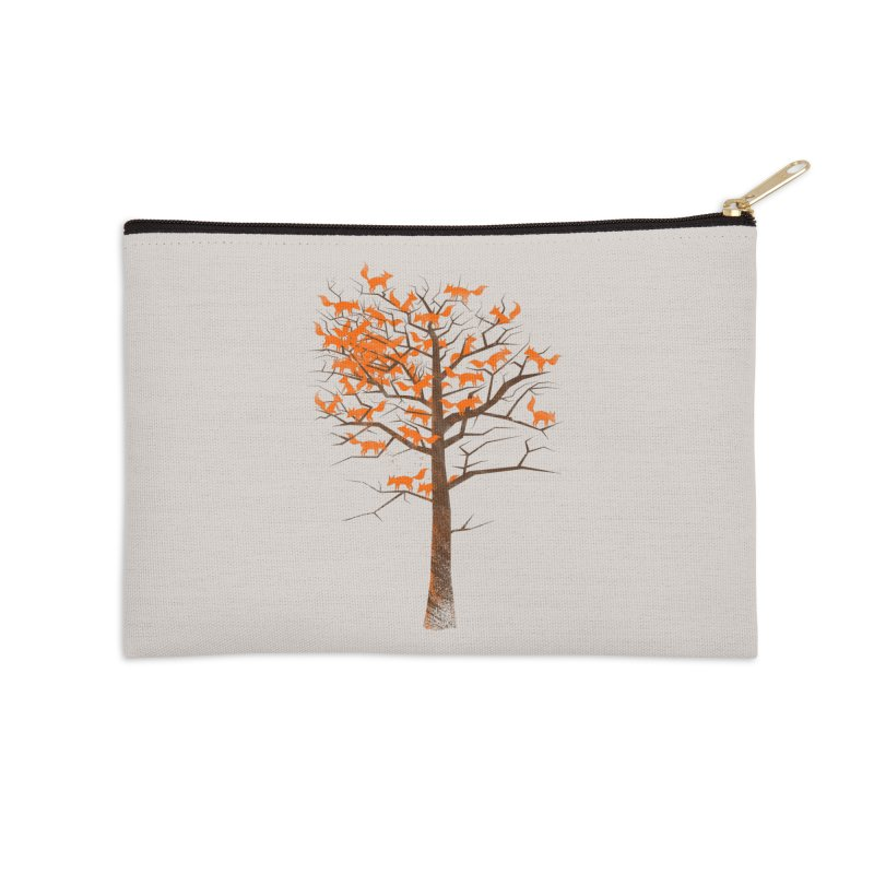 Blazing Fox Tree Accessories Zip Pouch by 38 Sunsets