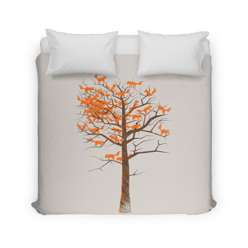 Blazing Fox Tree Home Duvet by 38 Sunsets