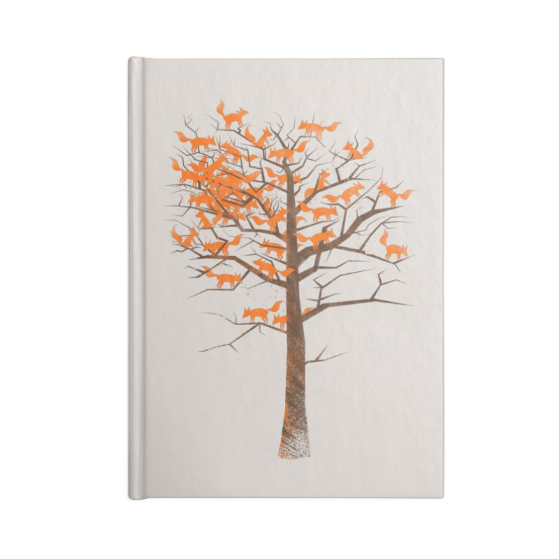 Blazing Fox Tree Accessories Blank Journal Notebook by 38 Sunsets