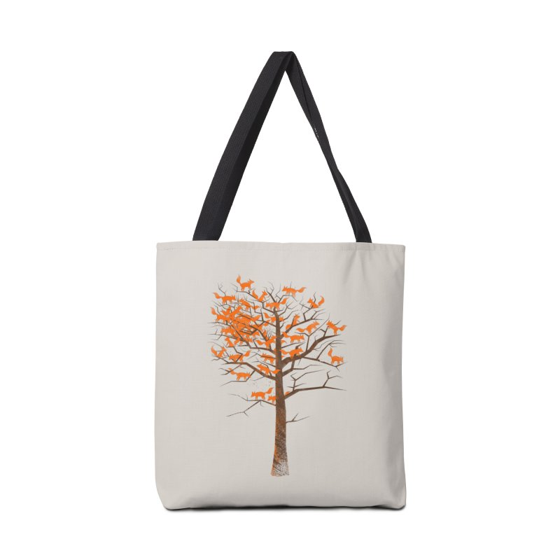 Blazing Fox Tree Accessories Tote Bag Bag by 38 Sunsets