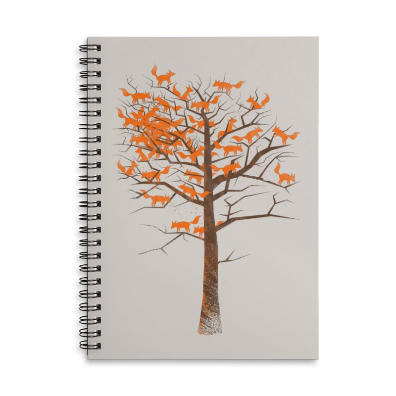 Blazing Fox Tree Accessories Lined Spiral Notebook by 38 Sunsets
