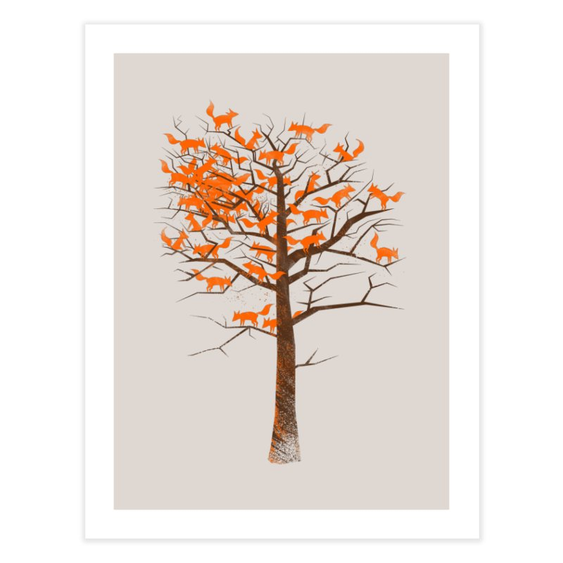 Blazing Fox Tree Home Fine Art Print by 38 Sunsets