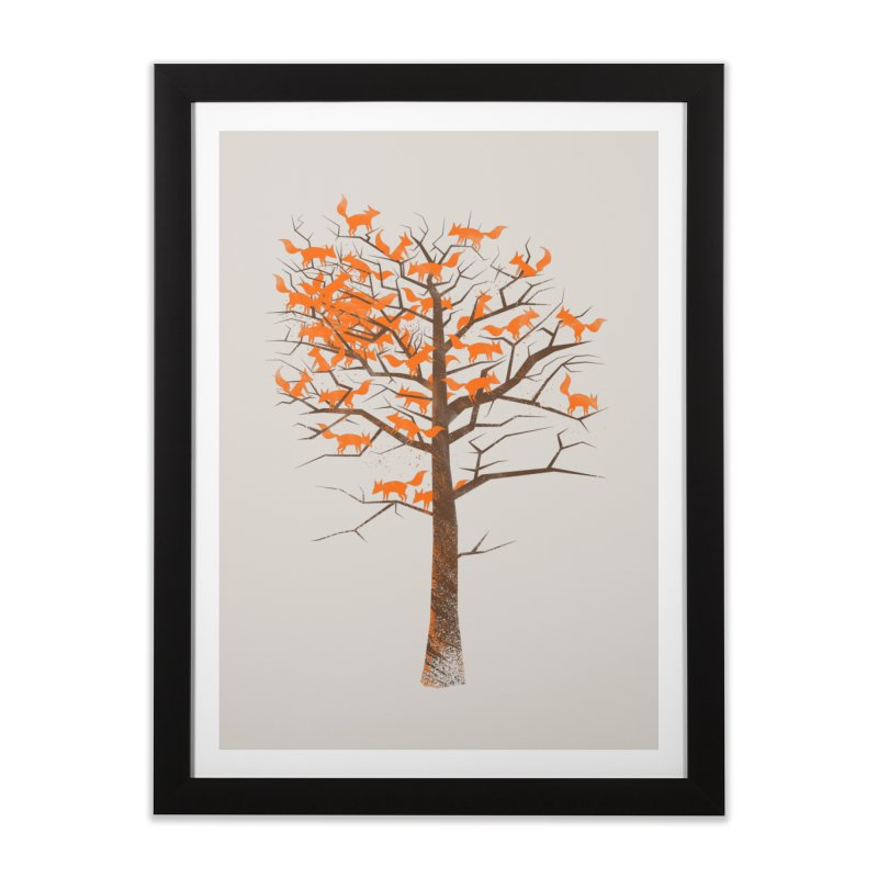 Blazing Fox Tree Home Framed Fine Art Print by 38 Sunsets
