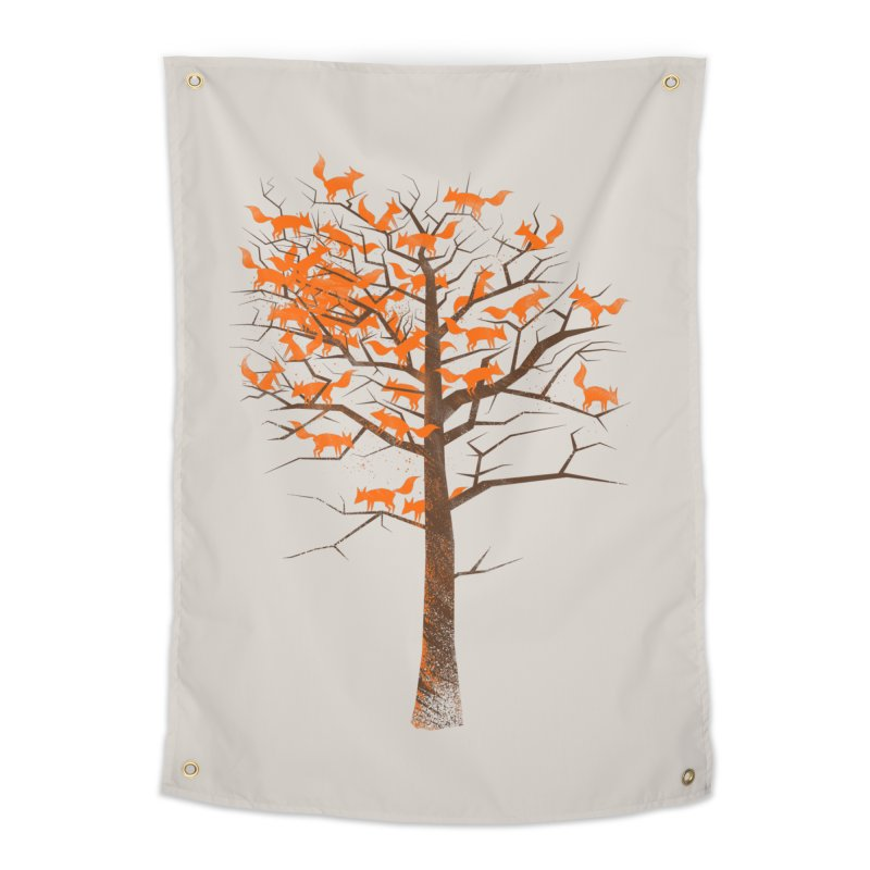 Blazing Fox Tree Home Tapestry by 38 Sunsets
