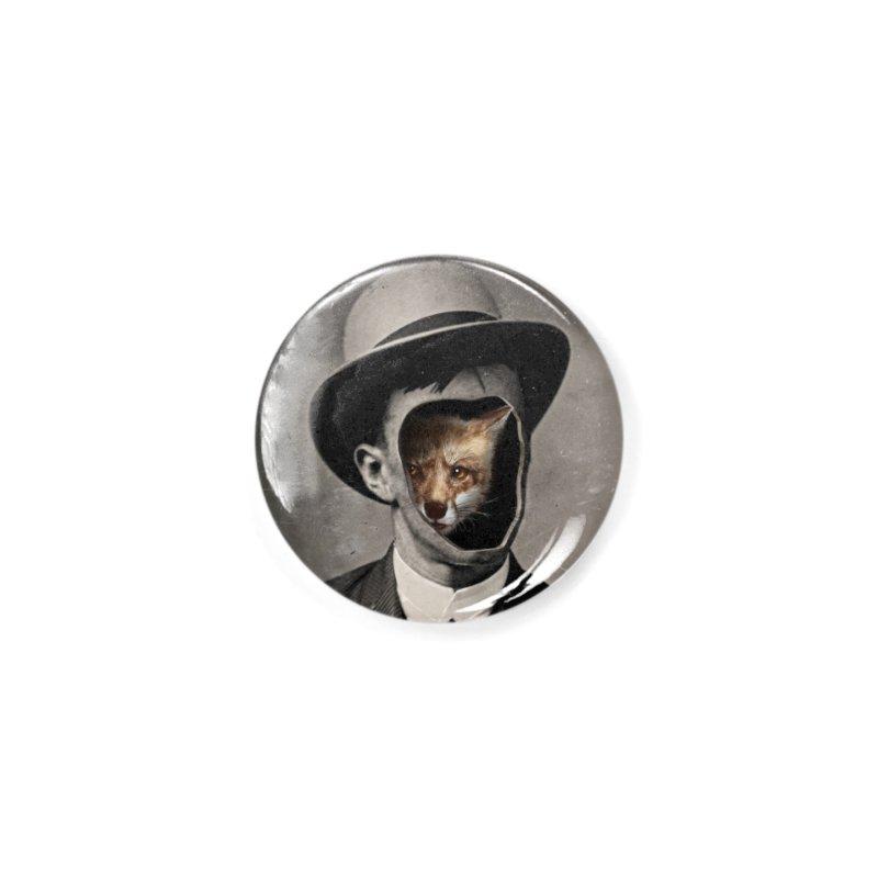 Gentleman Fox Accessories Button by 38 Sunsets