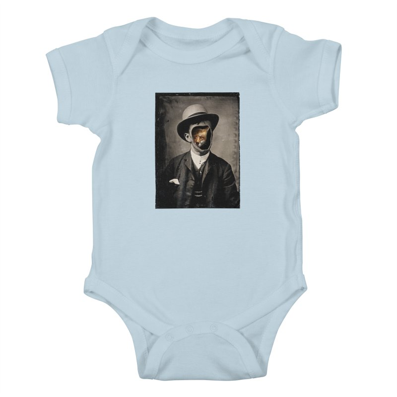 Gentleman Fox Kids Baby Bodysuit by 38 Sunsets