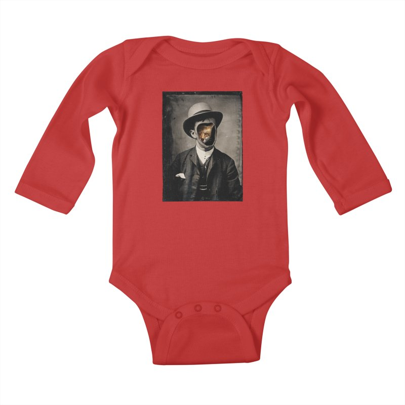 Gentleman Fox Kids Baby Longsleeve Bodysuit by 38 Sunsets