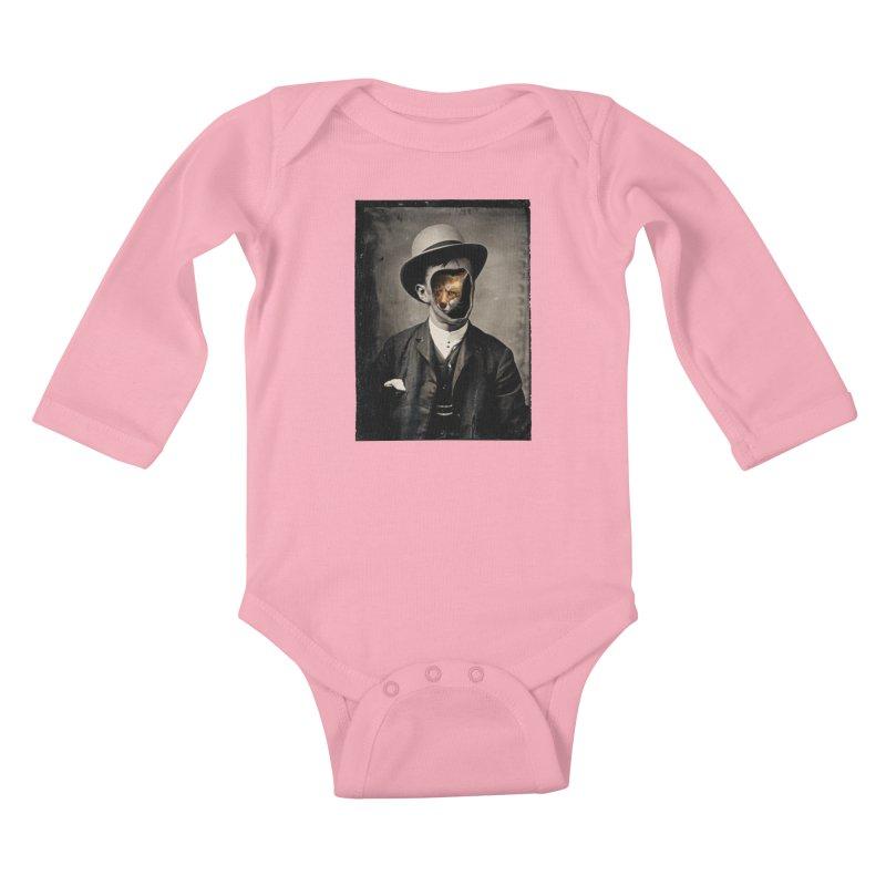 Gentleman Fox Kids Baby Longsleeve Bodysuit by 38 Sunsets