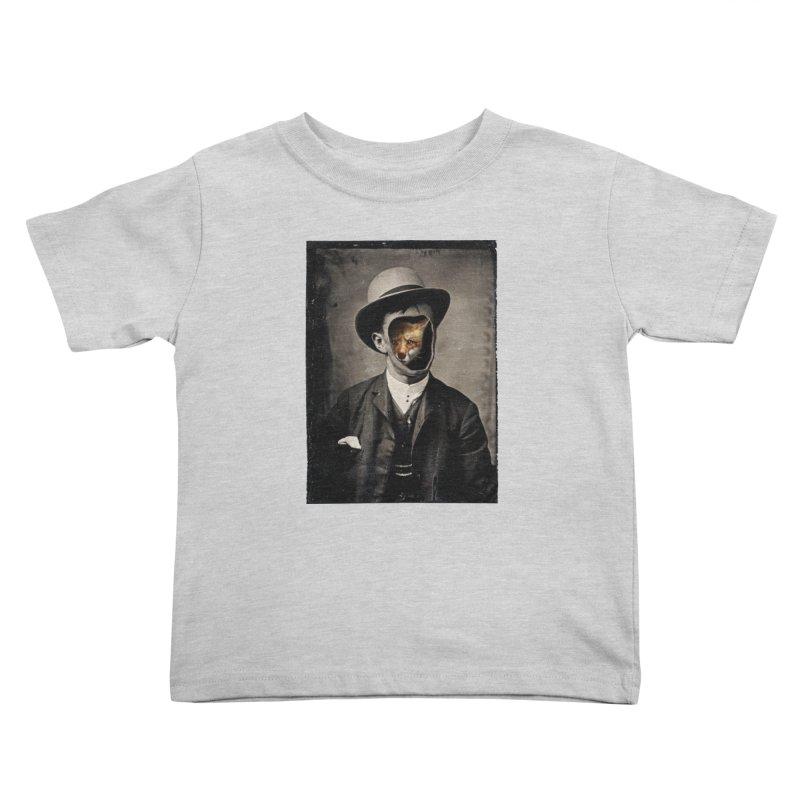 Gentleman Fox Kids Toddler T-Shirt by 38 Sunsets