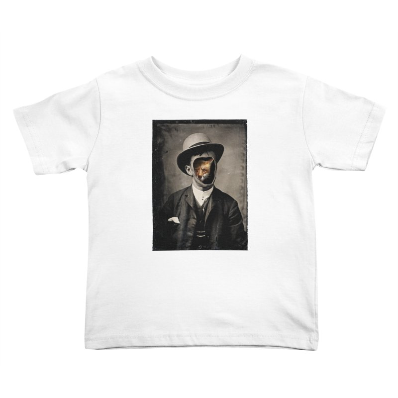 Gentleman Fox Kids Toddler T-Shirt by 38 Sunsets
