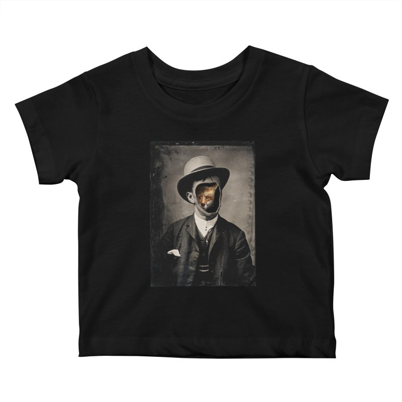 Gentleman Fox Kids Baby T-Shirt by 38 Sunsets