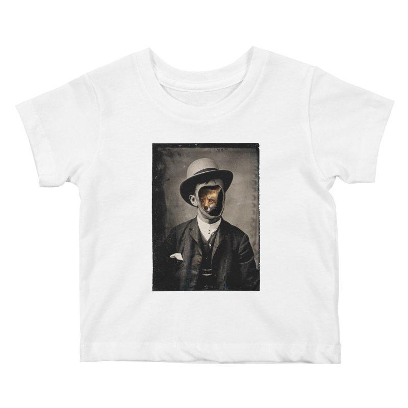 Gentleman Fox Kids Baby T-Shirt by 38 Sunsets