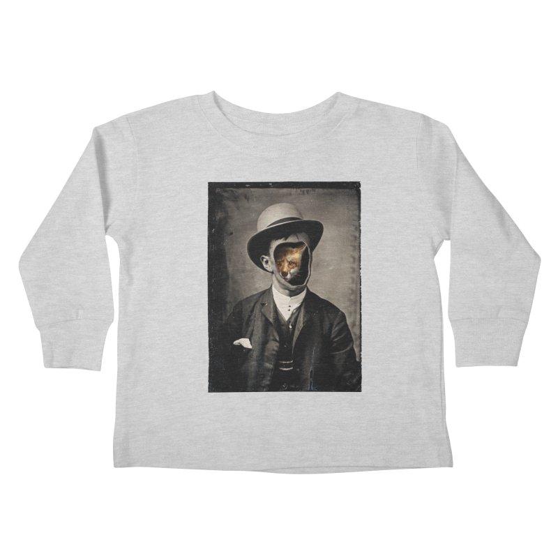 Gentleman Fox Kids Toddler Longsleeve T-Shirt by 38 Sunsets