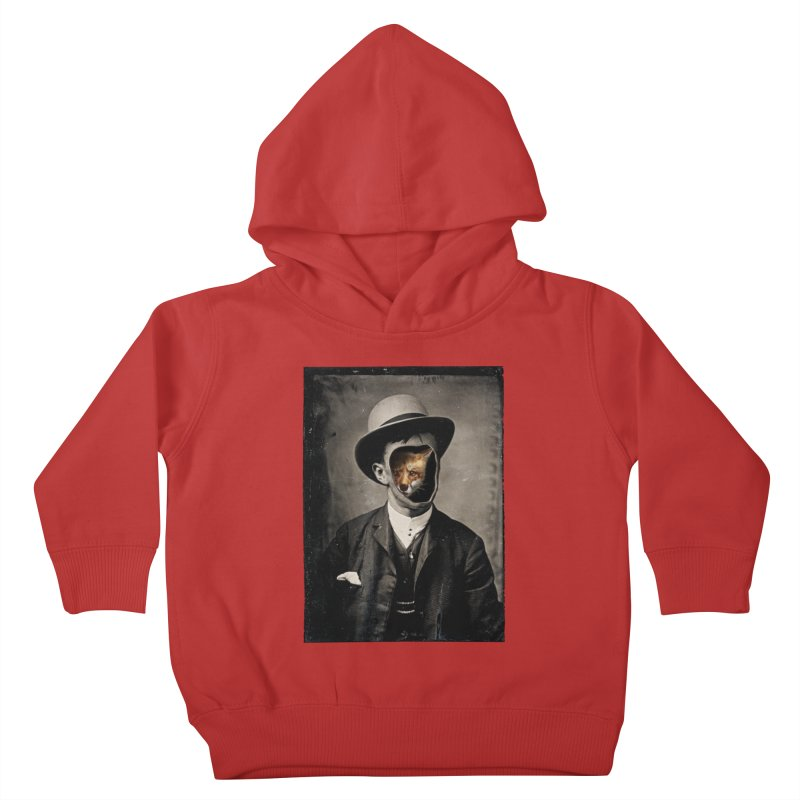 Gentleman Fox Kids Toddler Pullover Hoody by 38 Sunsets