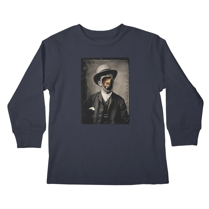 Gentleman Fox Kids Longsleeve T-Shirt by 38 Sunsets