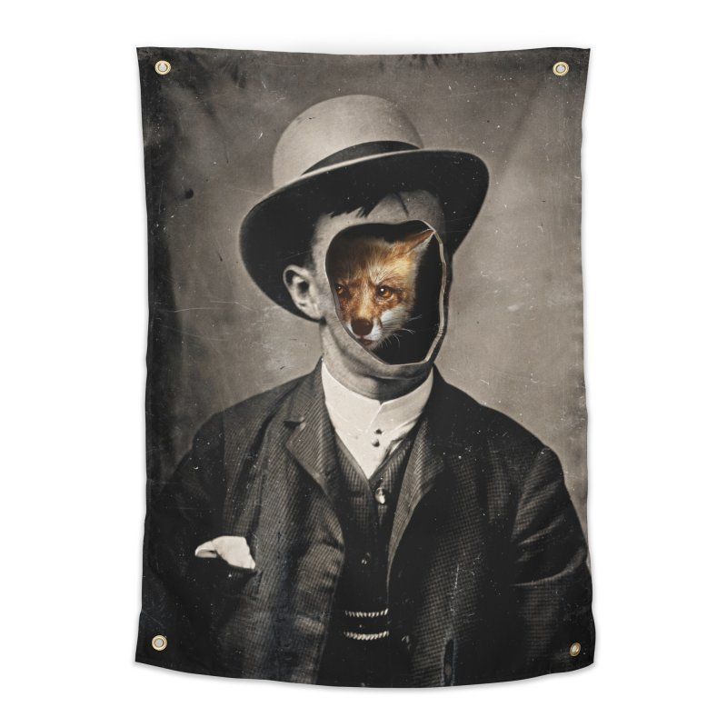 Gentleman Fox Home Tapestry by 38 Sunsets