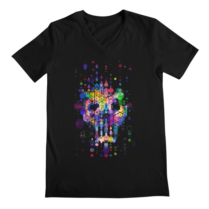Monstrously Colorful Elementary Particles Men's V-Neck by 38 Sunsets