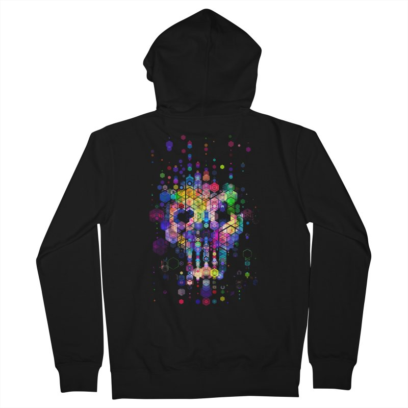 Monstrously Colorful Elementary Particles Men's French Terry Zip-Up Hoody by 38 Sunsets
