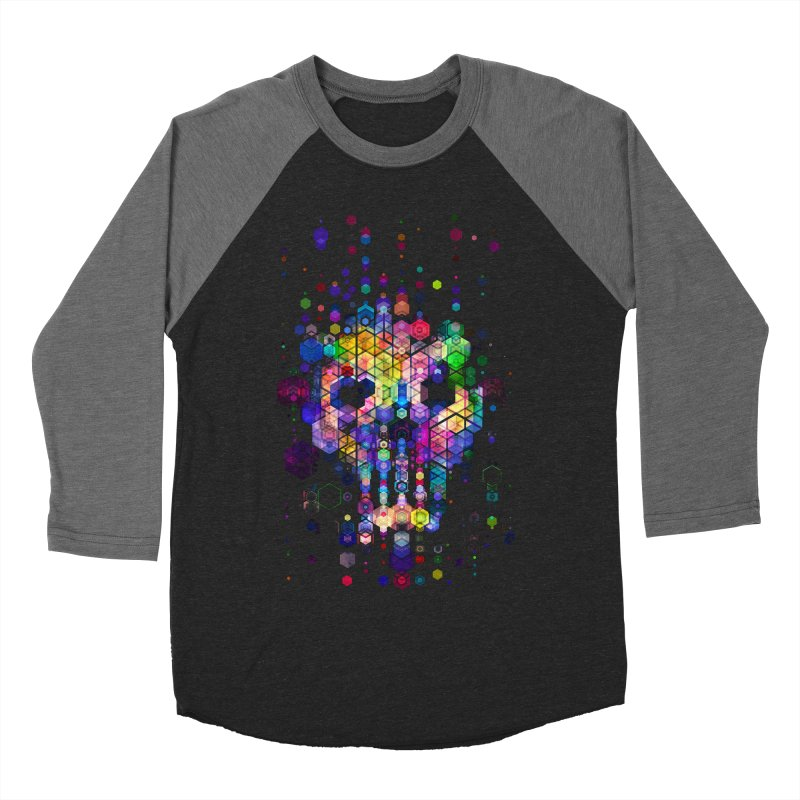 Monstrously Colorful Elementary Particles Men's Baseball Triblend Longsleeve T-Shirt by 38 Sunsets