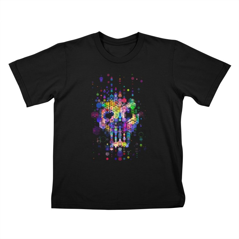 Monstrously Colorful Elementary Particles Kids T-Shirt by 38 Sunsets