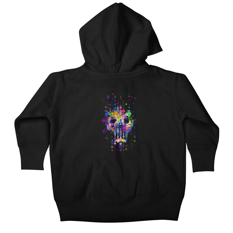 Monstrously Colorful Elementary Particles Kids Baby Zip-Up Hoody by 38 Sunsets