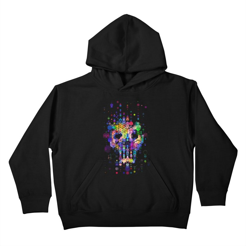 Monstrously Colorful Elementary Particles Kids Pullover Hoody by 38 Sunsets
