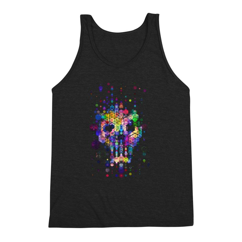 Monstrously Colorful Elementary Particles Men's Triblend Tank by 38 Sunsets