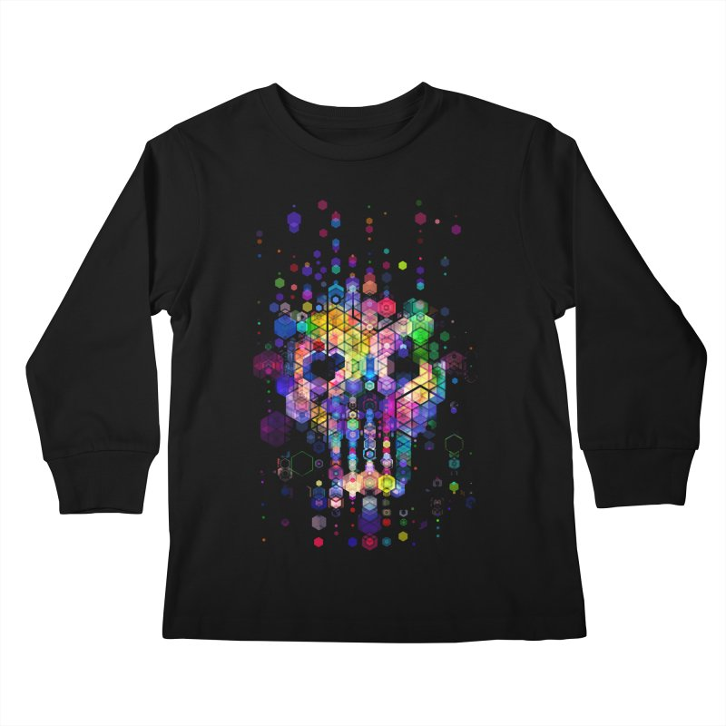 Monstrously Colorful Elementary Particles Kids Longsleeve T-Shirt by 38 Sunsets