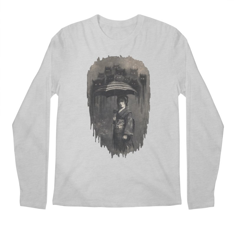 Lady Rain Men's Regular Longsleeve T-Shirt by 38 Sunsets