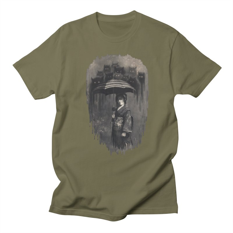 Lady Rain Men's Regular T-Shirt by 38 Sunsets