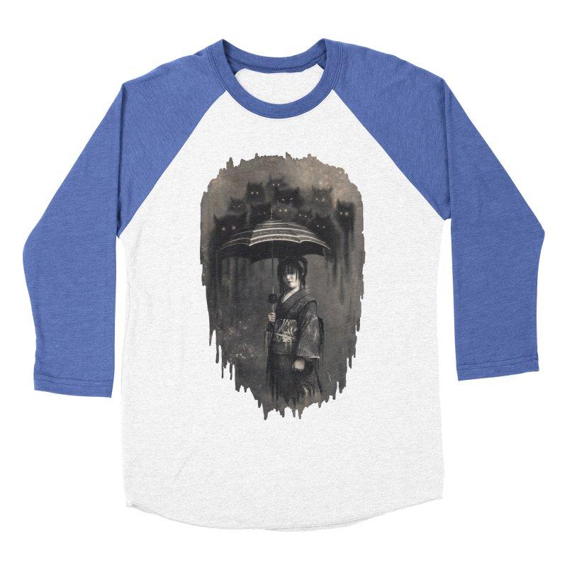 Lady Rain Men's Baseball Triblend Longsleeve T-Shirt by 38 Sunsets
