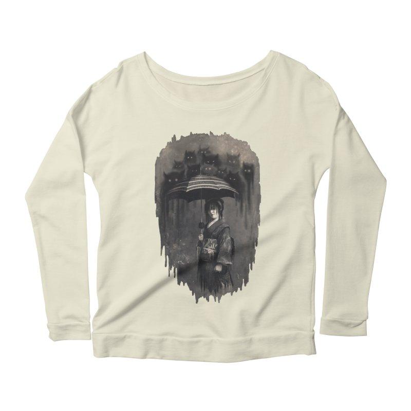 Lady Rain Women's Scoop Neck Longsleeve T-Shirt by 38 Sunsets