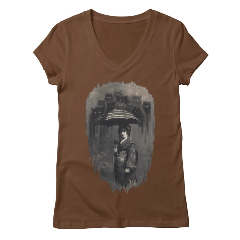 Lady Rain Women's V-Neck by 38 Sunsets