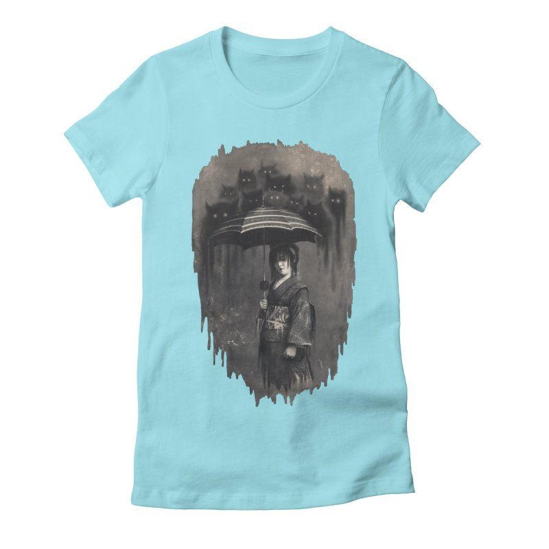 Lady Rain Women's Fitted T-Shirt by 38 Sunsets