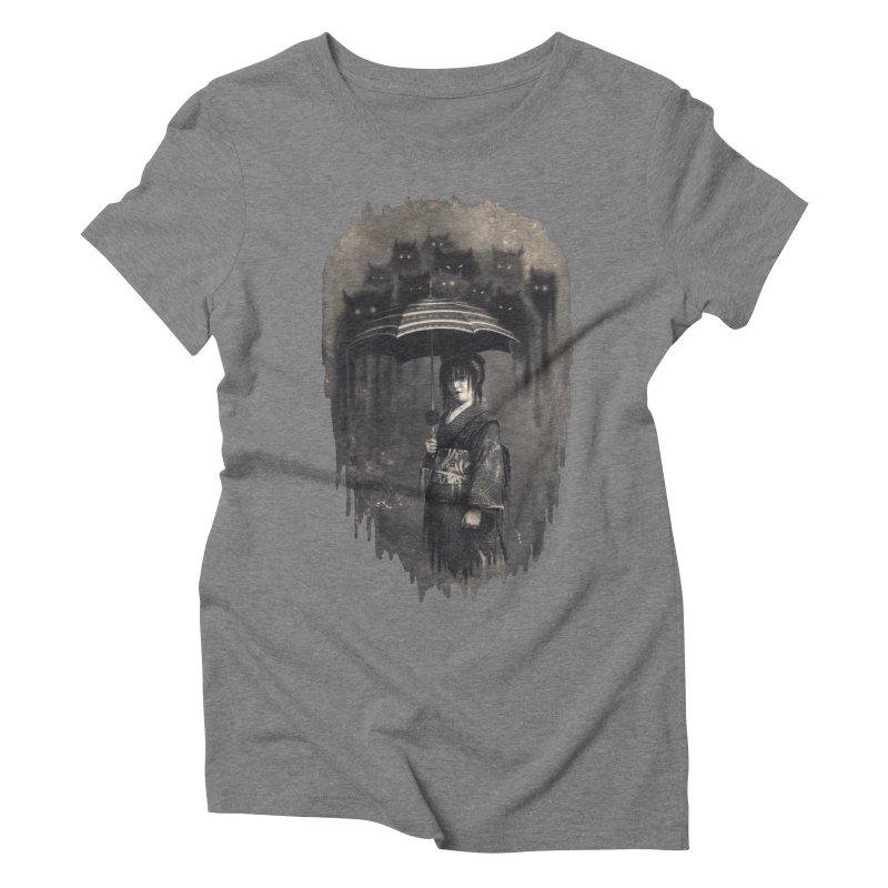 Lady Rain Women's Triblend T-shirt by 38 Sunsets