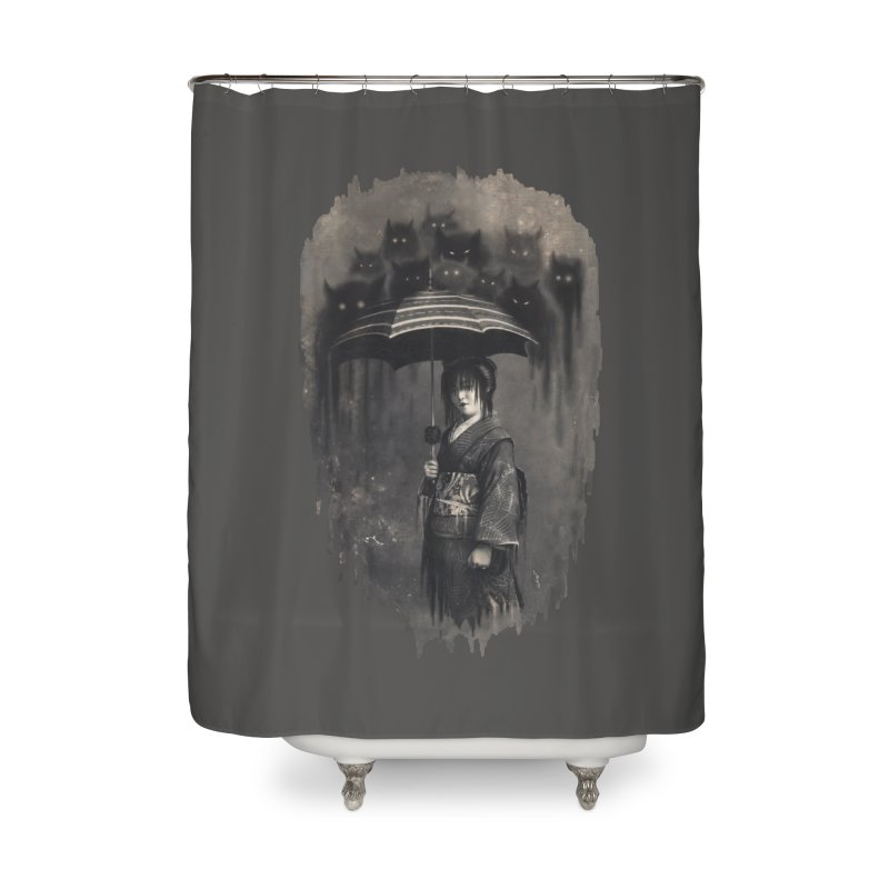 Lady Rain Home Shower Curtain by 38 Sunsets