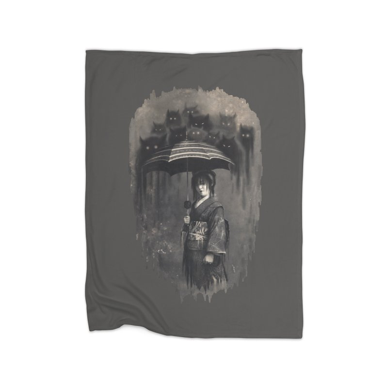 Lady Rain Home Fleece Blanket by 38 Sunsets