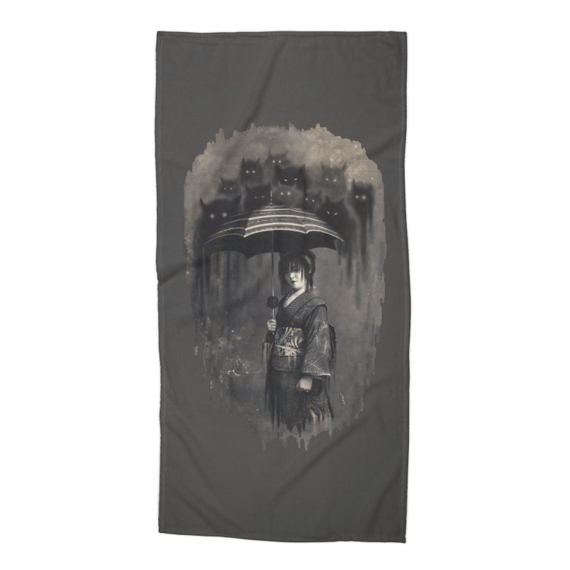 Lady Rain Accessories Beach Towel by 38 Sunsets