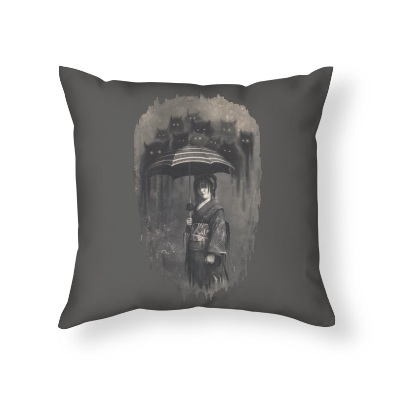 Lady Rain Home Throw Pillow by 38 Sunsets