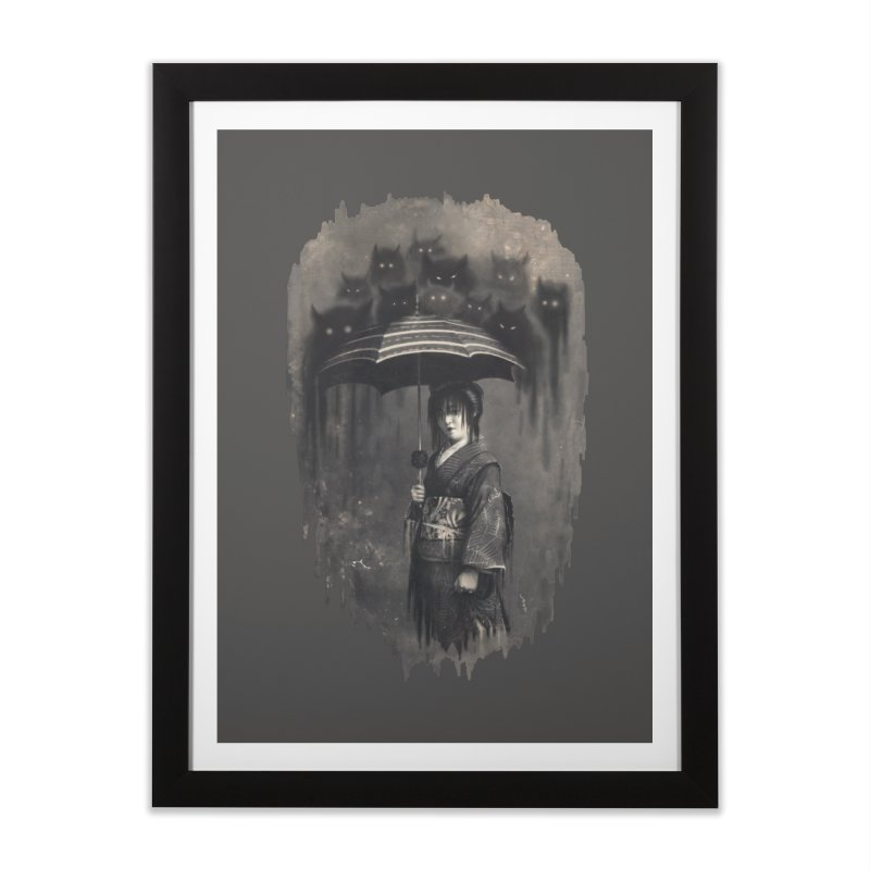 Lady Rain Home Framed Fine Art Print by 38 Sunsets